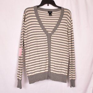 Rue21 Striped Cardigan w/Heart Elbow Patches